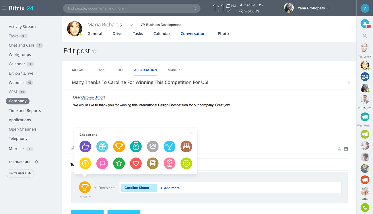 Bitrix24 Free Social Intranet Software