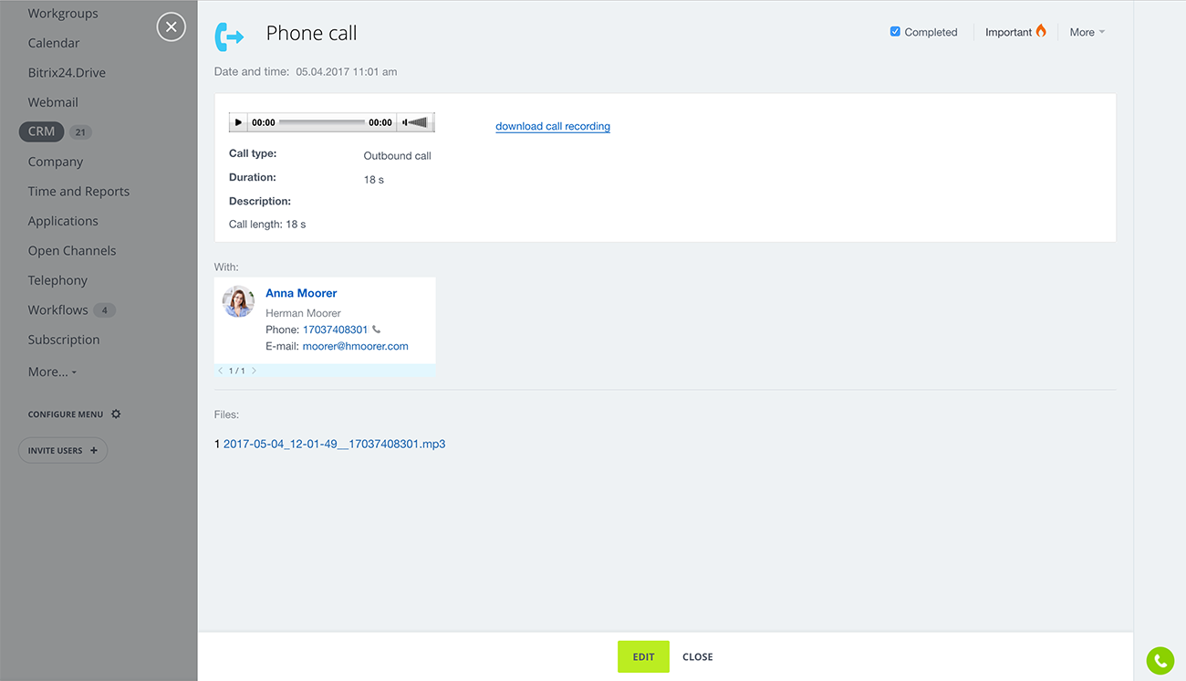 Bitrix24 Free Crm With Invoicing Call Center And Email