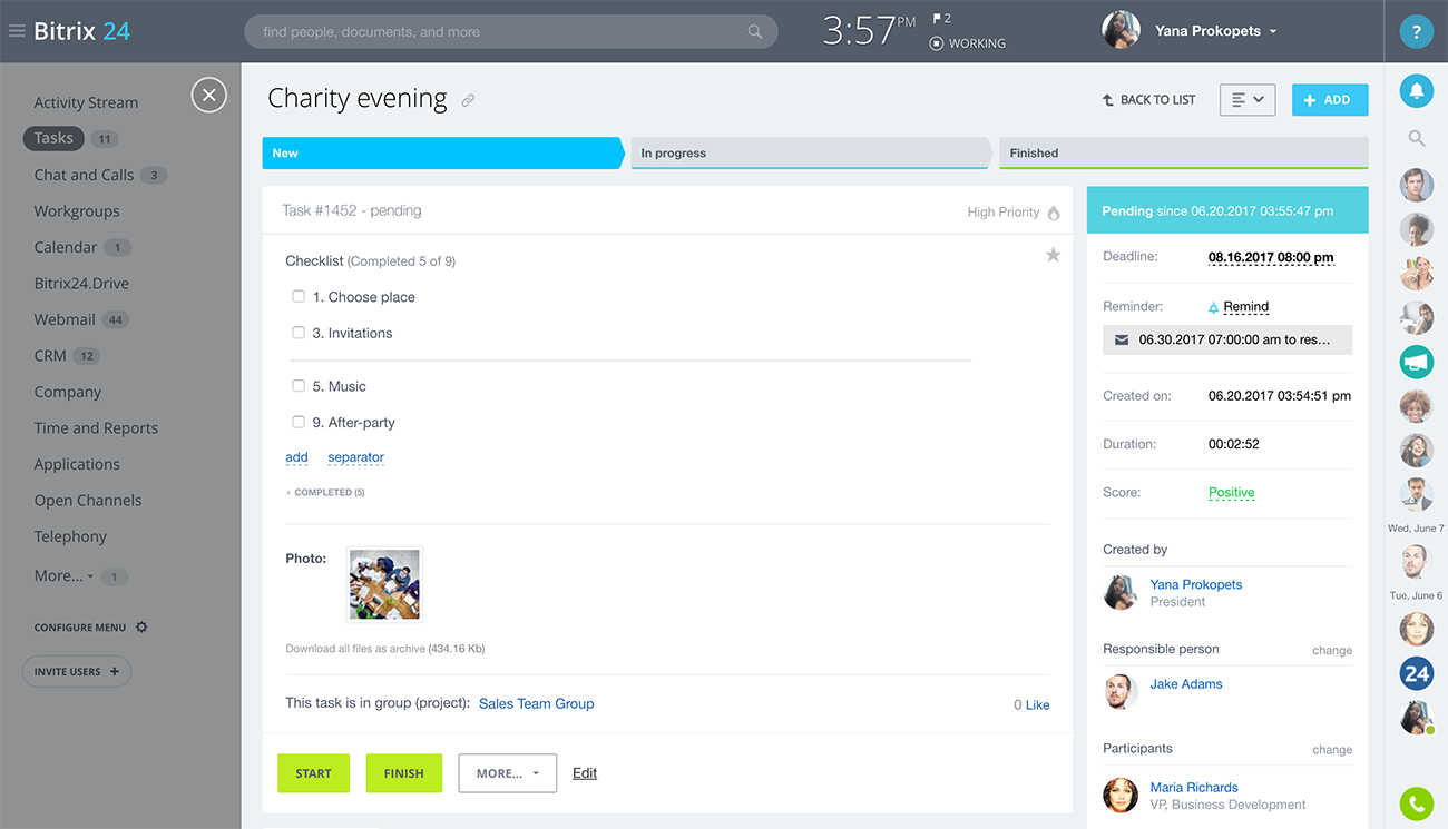 Bitrix24: Free Task And Project Management For Teams