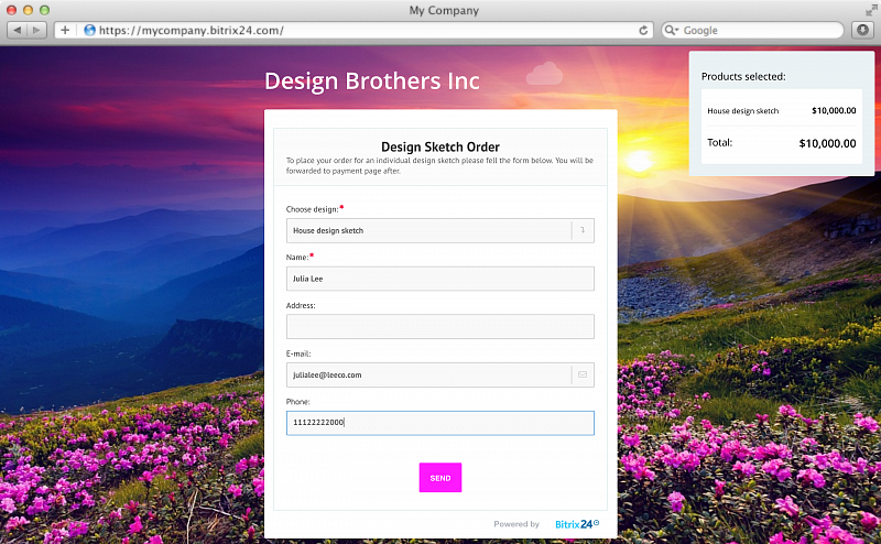 Free online contact form builder