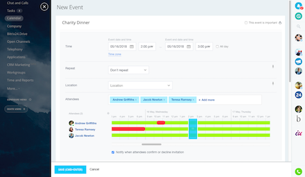 Free online event scheduler for event planners