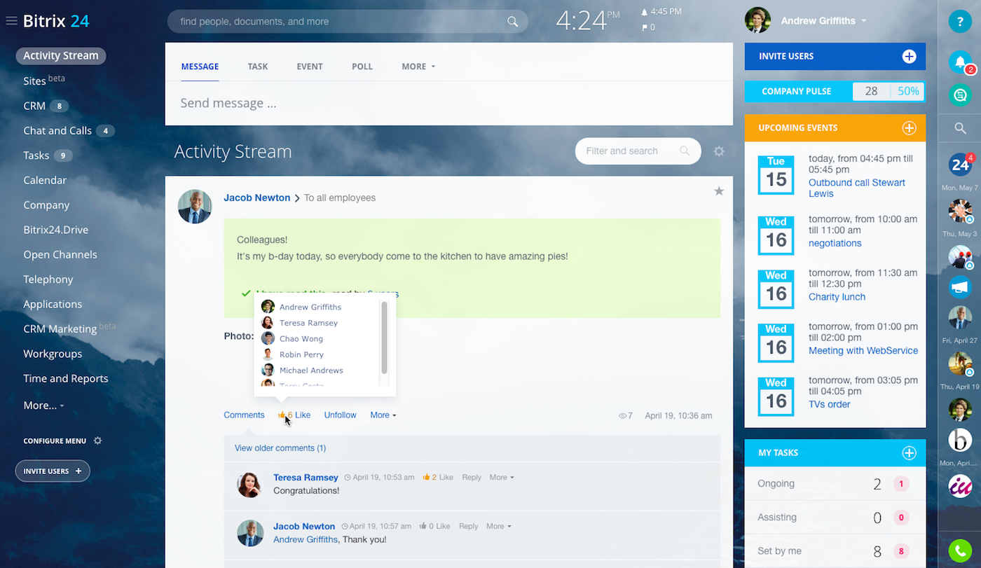 Employee engagement platform open source