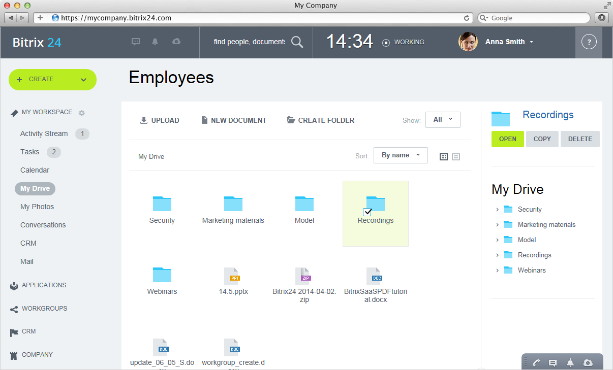 Bitrix24 web studio management software for Web documentation software