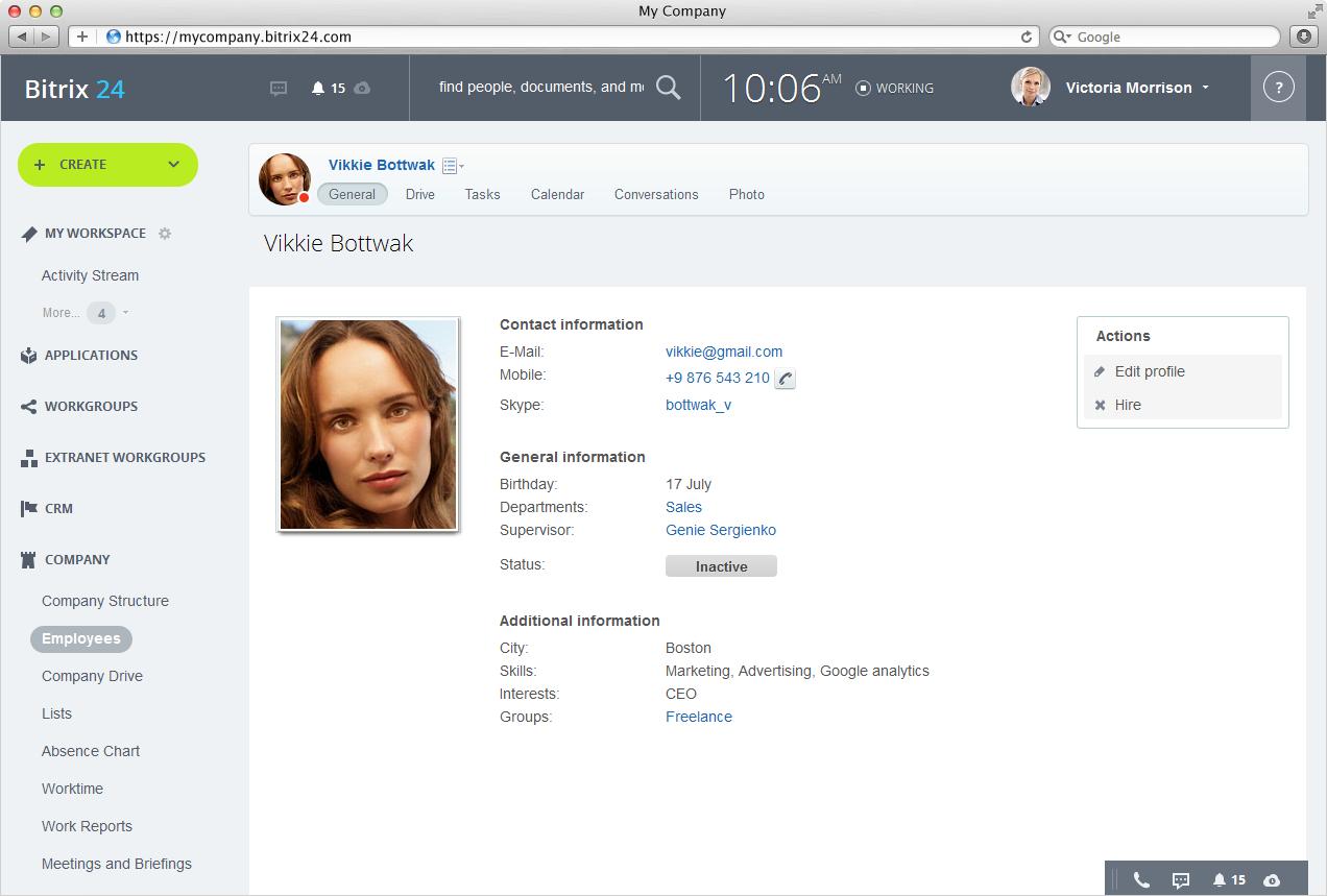 Bitrix24: Searchable Employee Directory In Bitrix24