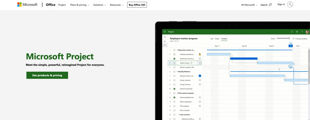 Microsoft project as basecamp alternative