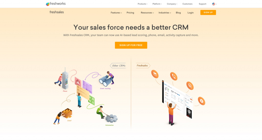 Personal crm Freshworks